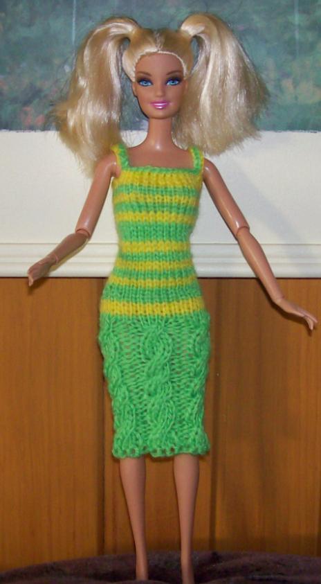 Tricot Barbie: Robe d'été n°9 par les copinautes