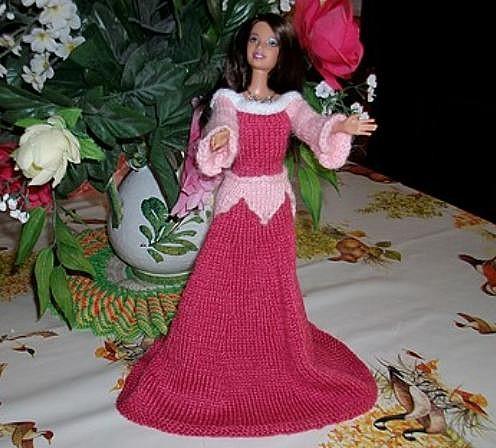 Tricot Barbie: Aurore par les copinautes