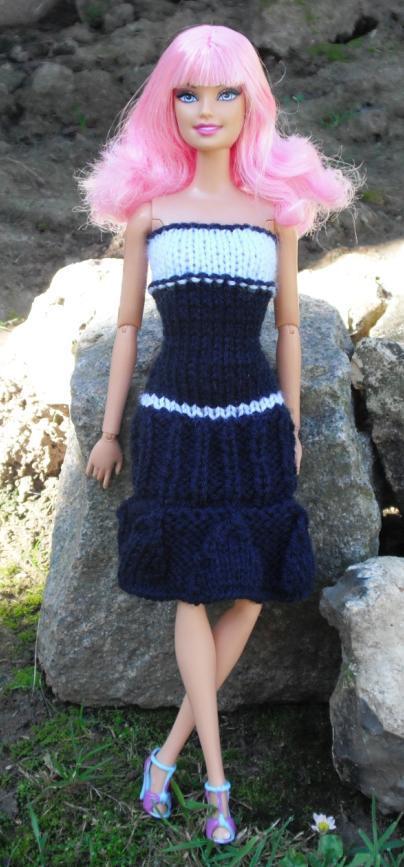 Tricot Barbie/Liv: Robe d'été n°10 par les copinautes